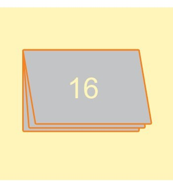 Broschüre A4 quer, 16 Seiten