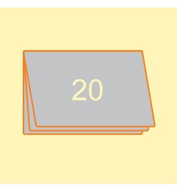 Broschüre A4 quer, 20 Seiten