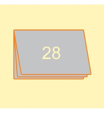 Broschüre A4 quer, 28 Seiten