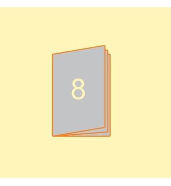 Broschüre A5 hoch, 8 Seiten