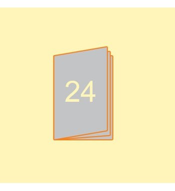 Broschüre A5 hoch, 24 Seiten