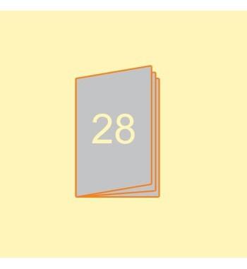 Broschüre A5 hoch, 28 Seiten