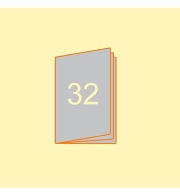 Broschüre A5 hoch, 32 Seiten