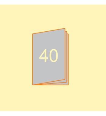 Broschüre A5 hoch, 40 Seiten