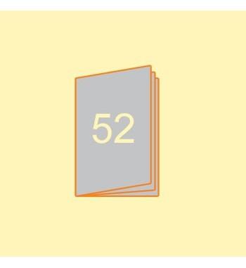 Broschüre A5 hoch, 52 Seiten