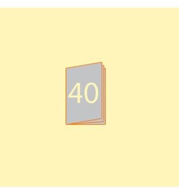 Broschüre A6 hoch, 40 Seiten