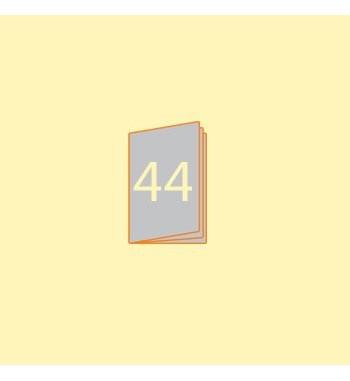 Broschüre A6 hoch, 44 Seiten