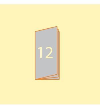 Broschüre DIN L hoch, 12...