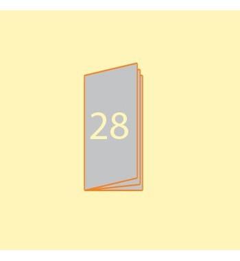 Broschüre DIN L hoch, 28...