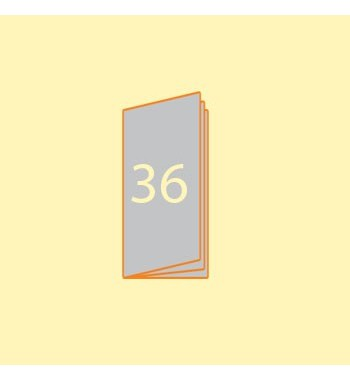 Broschüre DIN L hoch, 36...