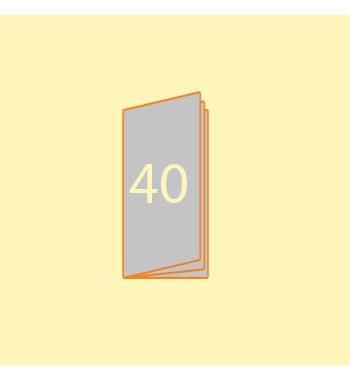 Broschüre DIN L hoch, 40...