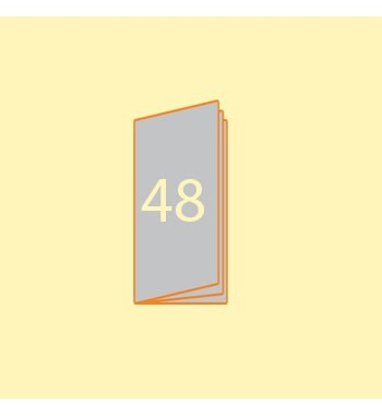 Broschüre DIN L hoch, 48...