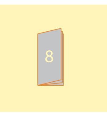 Broschüre DIN L hoch, 8 Seiten