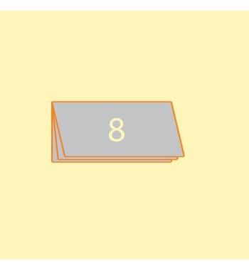 Broschüre DIN L quer, 8 Seiten