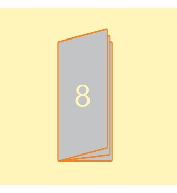 Broschüre 105 x 297 mm, 8...