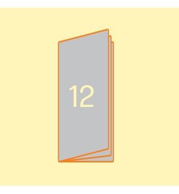 Broschüre 105 x 297 mm, 12...
