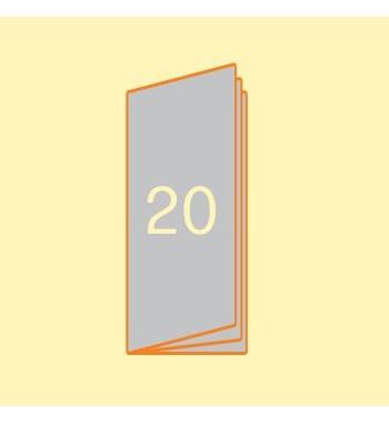 Broschüre 105 x 297 mm, 20...