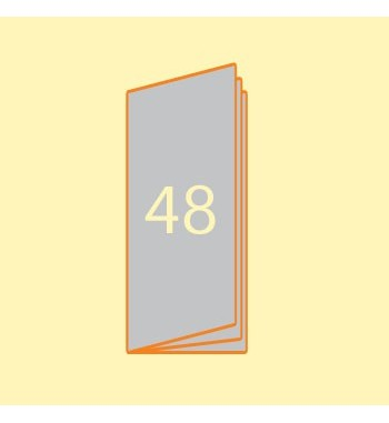 Broschüre 105 x 297 mm, 48...