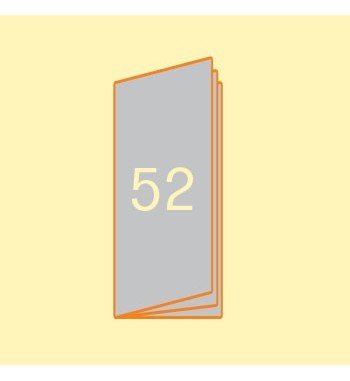 Broschüre 105 x 297 mm, 52...
